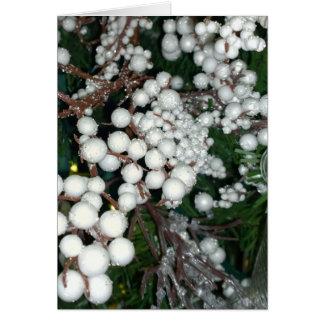 White Cranberry Christmas Card