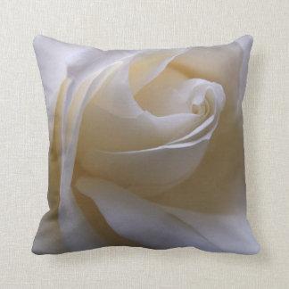 White Cream Rose Cushion