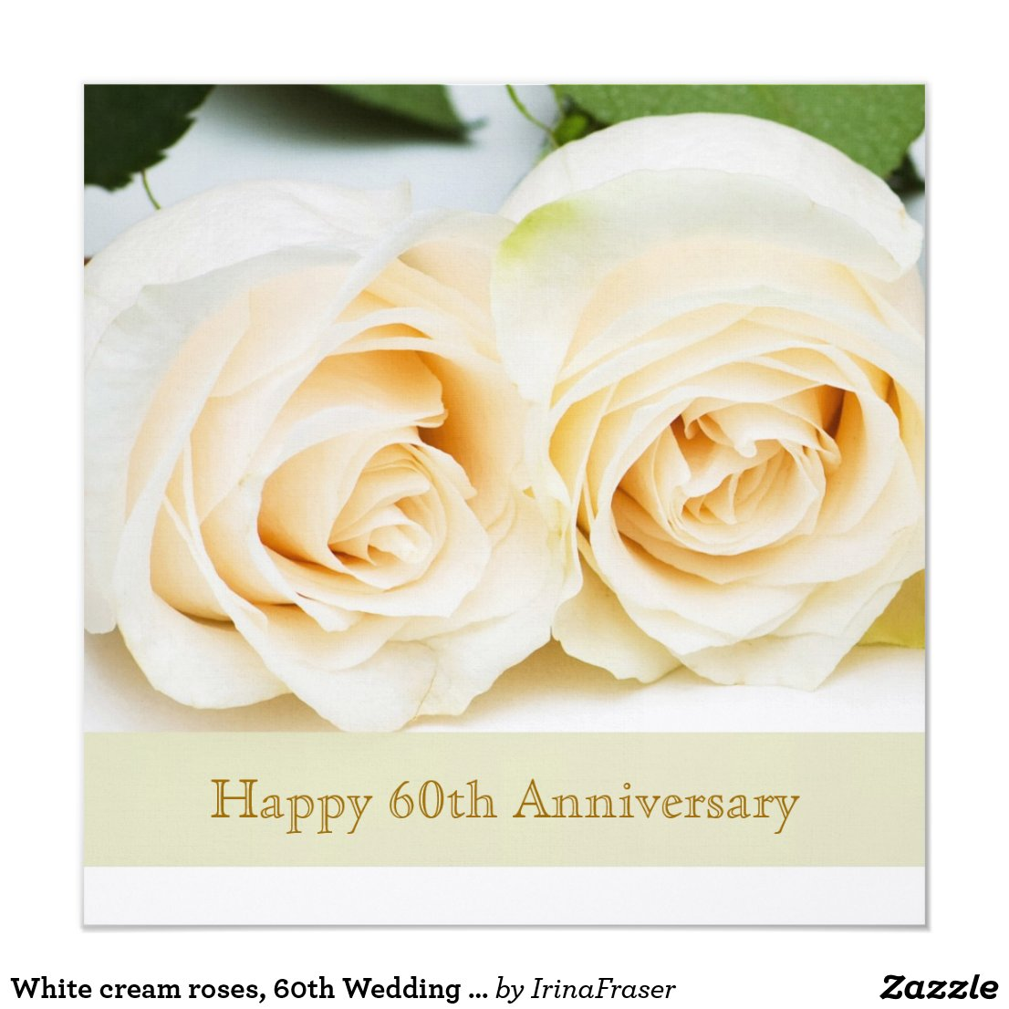 White cream roses, 60th Wedding Anniversary