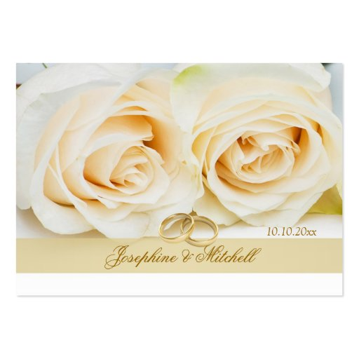 White cream roses Thank you Wedding/Gift Tag Business Card
