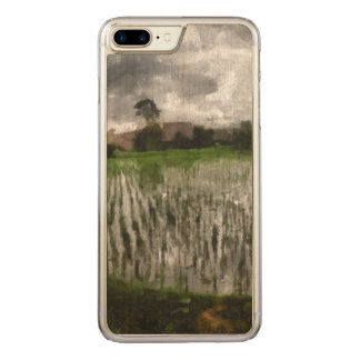 White crop carved iPhone 7 plus case