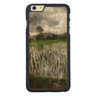 White crop carved® maple iPhone 6 plus case