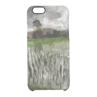 White crop clear iPhone 6/6S case