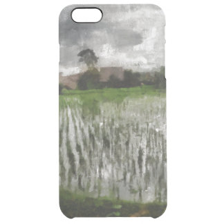 White crop clear iPhone 6 plus case