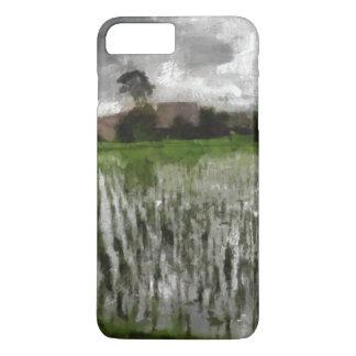White crop iPhone 7 plus case