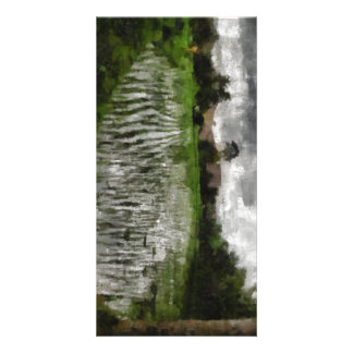 White crop picture card