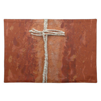White Cross Placemats