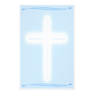 White Cross Stationary Personalized Stationery