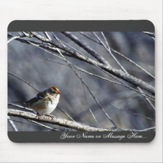 White-crowned sparrow female mousepad