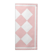 White & Custom Colour Diamond Tile Table Napkin