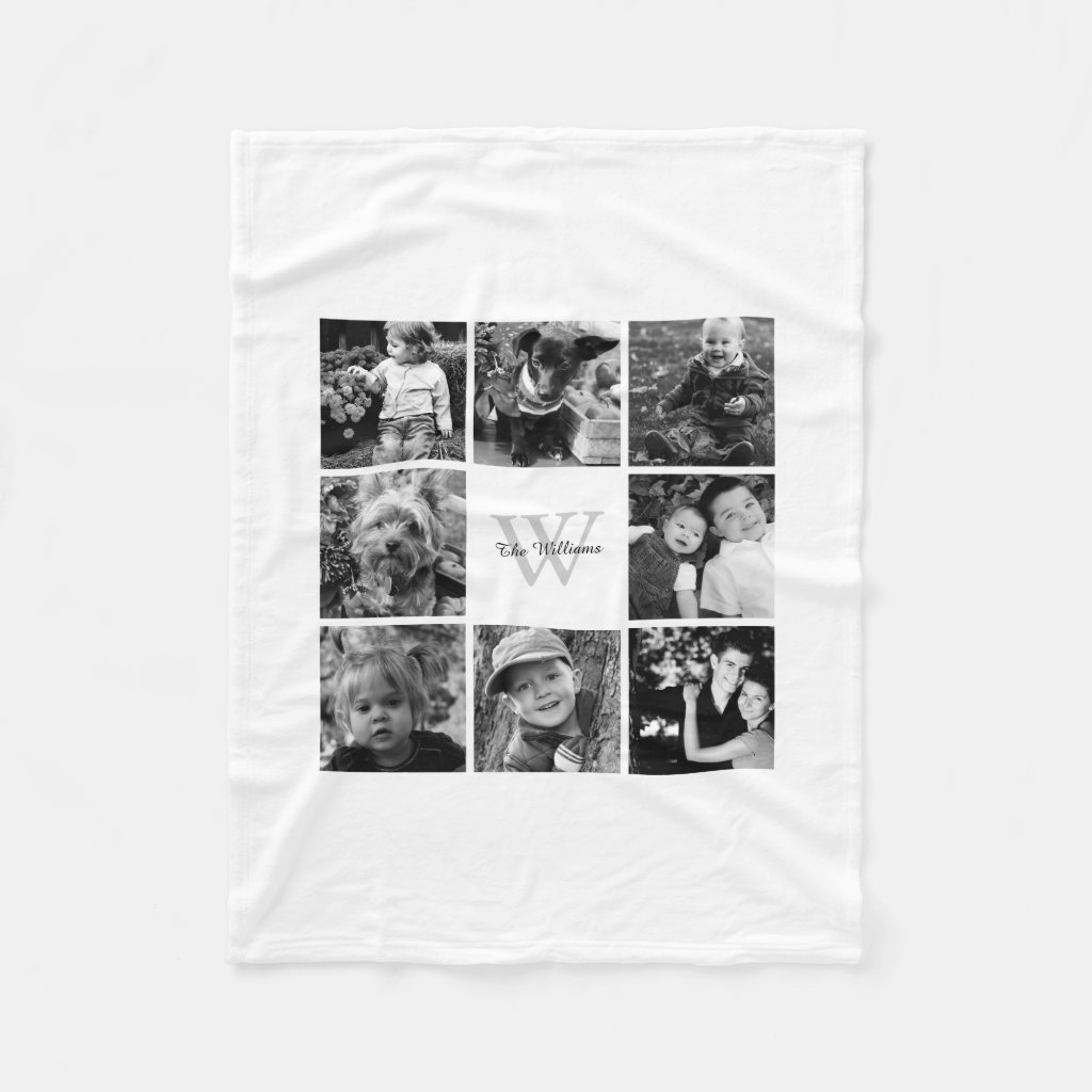 Family Photo Collage Blanket