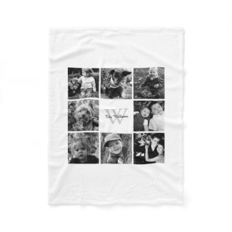White Custom Family Photo Collage