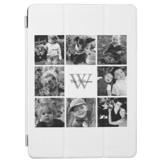 White Custom Family Photo Collage iPad Air Cover