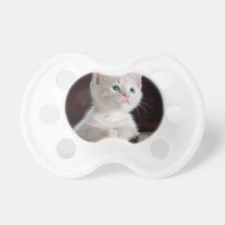 White Cute Kitty BooginHead Pacifier