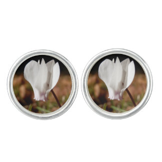 White Cyclamen Cufflinks