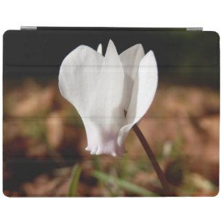 White Cyclamen iPad Cover
