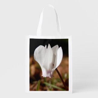 White Cyclamen Reusable Bag