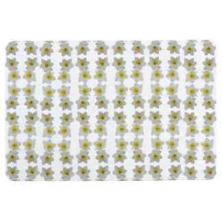 white daffodil flowers floor mat