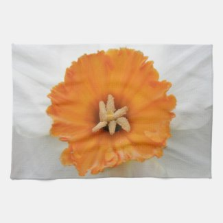 White Daffodil Kitchen Towel