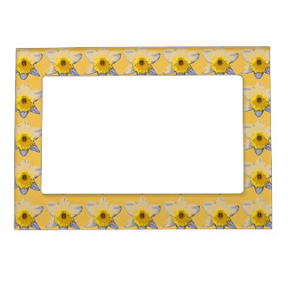 White Daffodil Magnetic Frame (Yellow)