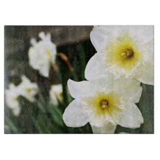 White Daffodils Cutting Boards