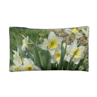 White Daffodils Cosmetic Bag