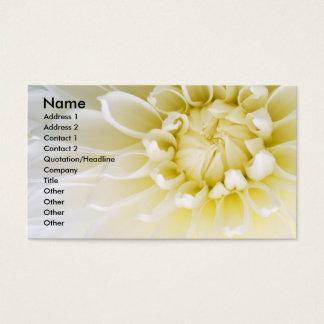White Dahlia Business Card