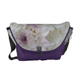 White Dahlia Courier Bag