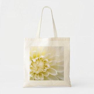 White Dahlia Budget Tote Bag