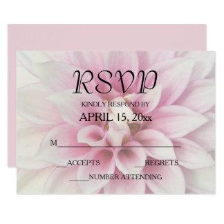 White Dahlia Wedding RSVP Card