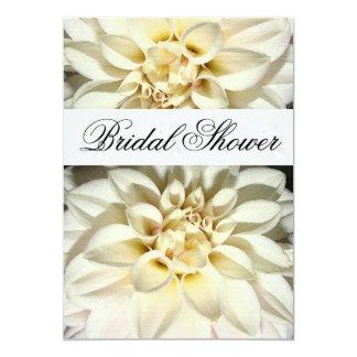 White Dahlias Bridal Shower Invitation