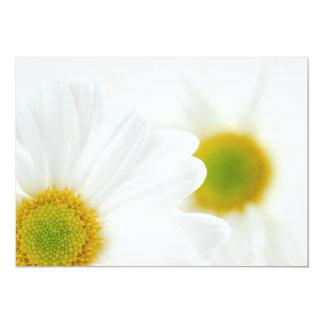 White daisies 13 cm x 18 cm invitation card