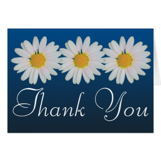 White Daisies Colorful Photo Fun Floral Thank You Card