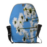White daisies courier bag