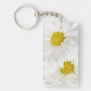 daisy flowers key rings keychains zazzle uk