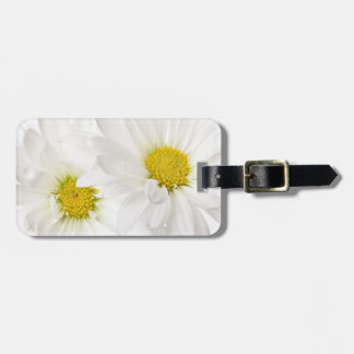 White Daisies - Customized Daisy Flower Template Luggage Tag