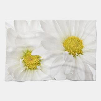 White Daisies - Customized Daisy Flower Template Tea Towel