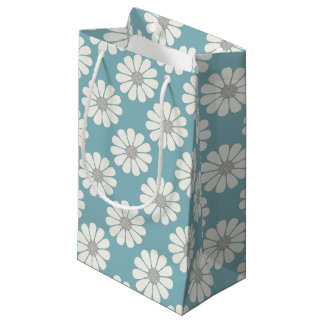White Daisies floral Small Gift Bag