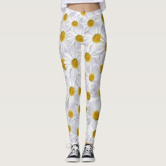 white daisies leggings