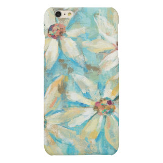White Daisies on Blue iPhone 6 Plus Case