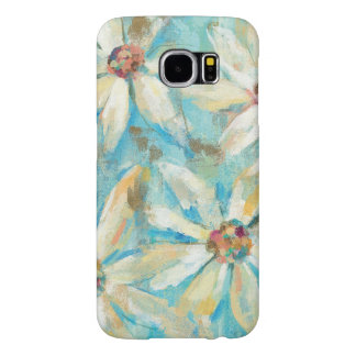 White Daisies on Blue Samsung Galaxy S6 Cases