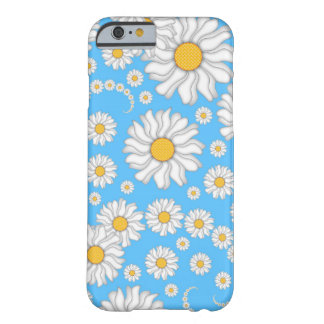 White Daisies on Bright Blue Background Barely There iPhone 6 Case