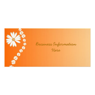 White Daisies on Orange Bookmark Rack Card