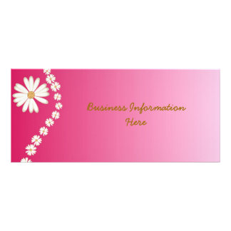 White Daisies on pink 2012 Calendar Bookmark Customised Rack Card
