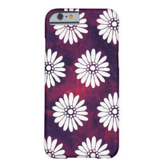 White Daisies on Smoky Burgundy & Purple Barely There iPhone 6 Case