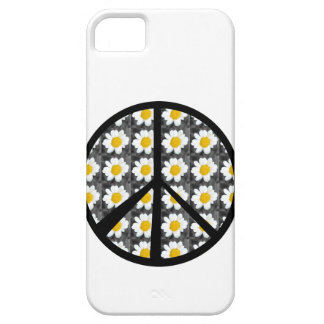 White Daisies Peace Sign Case For The iPhone 5