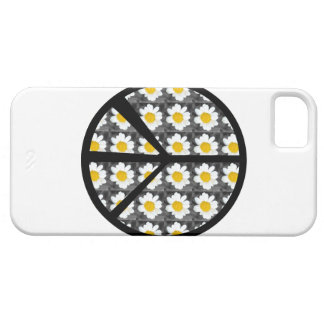 White Daisies Peace Sign iPhone 5 Case