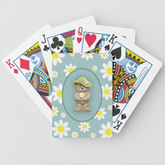 White Daisies Poker Deck