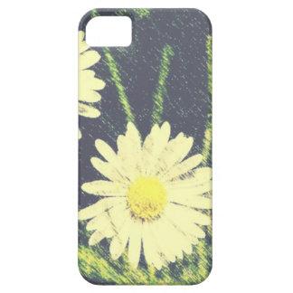 White Daisies Three Green Yellow Bloom Pastel iPhone 5/5S Case
