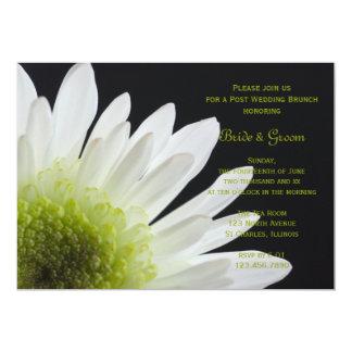 White Daisy Black Post Wedding Brunch Invitation